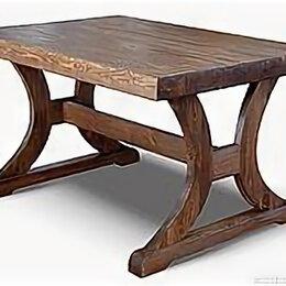 Столы и столики - Стол из массива дерева для кабинета под старину, 0