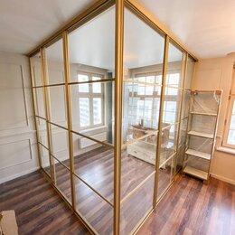 Межкомнатные двери - Алюминиевая перегородка со стеклом, 0