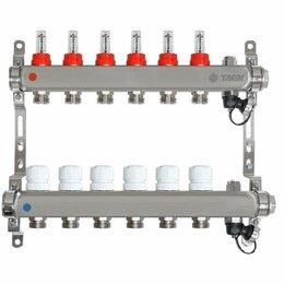 Коллекторы - Коллектор для теплого пола на 6 выходов Taen с расходомерами (гребенка), 0