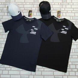 Футболки и майки - Футболка мужская under armour синяя, черная, 0