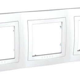 Электроустановочные изделия - Рамка 3-постовая Schneider Electric Unica MGU2.006.18, 0