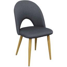 Стулья, табуретки - Стул с мягким сиденьем и спинкой серый Cleo, 0