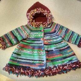 Пальто и плащи - Пальто  для девочки из разноцветной пряжи, 0