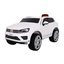 Электромобили - Электромобиль детский Volkswagen Touareg White, 0