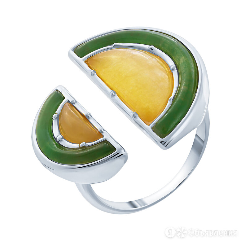 Серебряное кольцо с жадеитом по цене 6440₽ - Кольца и перстни, фото 0