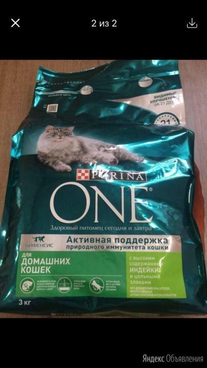 Корм для кошек Purina One 3 кг по цене 750₽ - Корма , фото 0
