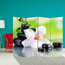 """Ширмы - Ширма """"Орхидея с камнями"""", 200 × 160 см, 0"""