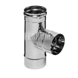 Дымоходы - Тройник-К 90° (430/0,8мм) D 115 Ferrum, 0