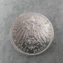 Монеты - Монета серебро Германия 3 марки 1913 г., 0