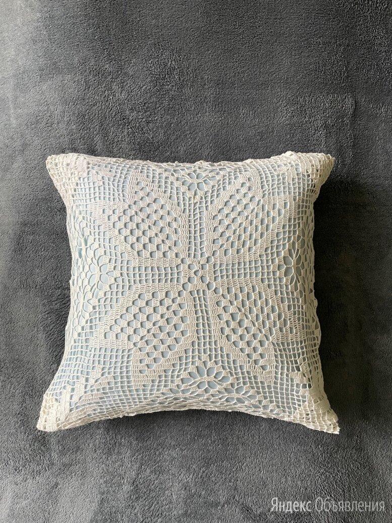 Подушка с кружевной наволочкой / ручная работа по цене 500₽ - Декоративные подушки, фото 0