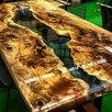 Декоративный столик из спилов и эпоксидной смолы по цене 30900₽ - Кровати, фото 1