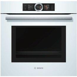 Духовые шкафы - Духовой шкаф с микроволнами Bosch HNG6764W6, 0