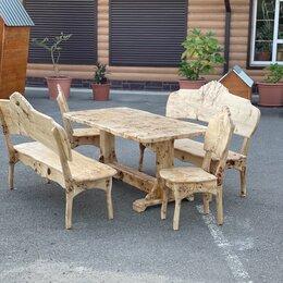 Комплекты садовой мебели - Деревянная мебель для дачи из сосны других пород деревьев , 0