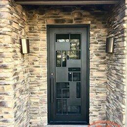 Входные двери - Дверь с окнами по бокам, 0