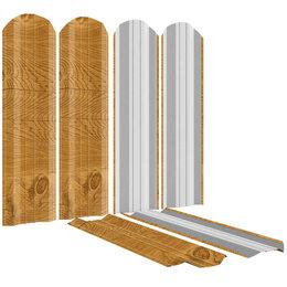 Заборы, ворота и элементы - Штакетник металлический ЭКО-М 95мм Золотое Дерево Printech Корея, 0