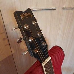 Акустические и классические гитары - Электроакустическая Гитара Washburn EA5B + Fishman. Доставка, 0