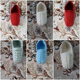 Домашняя обувь - Тапочки - следочки, новые ручная вязка, 0