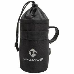 Аксессуары и комплектующие - Флягодержатель M-WAVE, нейлон, на 3х липучках, на вынос, раму, штырь, черный, , 0