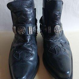 Сапоги - Казаки мужские кожаные., 0
