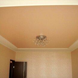 Потолки и комплектующие - Натяжной потолок глянцевый персиковый с установкой и профилем, 0