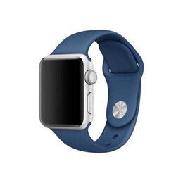 Ремешки для умных часов - Ремешок силиконовый для Apple Watch 38/40mm (синий), 0