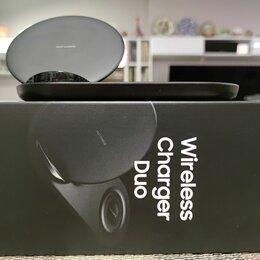 Зарядные устройства и адаптеры - Док станция зарядка Samsung Wireless charger duo для смартфона и часов, 0