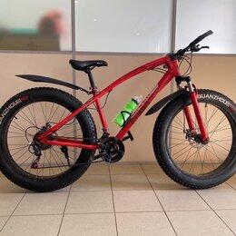 Велосипеды - Велосипед фэтбайк green красный, 0