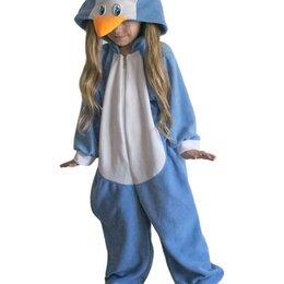 """Кигуруми - Пижама Кигуруми """"Пингвин"""" бело-голубой, размер с 3 до 7 лет арт.ING3 (6 лет), 0"""