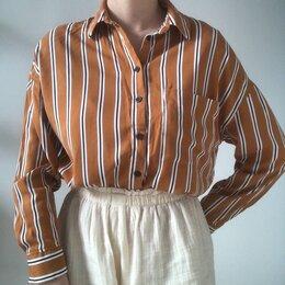 Блузки и кофточки - Рубашка в полоску рыжая , 0