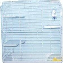 Клетки и домики  - N1 Клетка для хорька, 3-этажная, пластиковый поддон, укомплектованная, 100*57..., 0