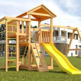 Игровые и спортивные комплексы и горки - Детская площадка Савушка Мастер 3 с качелями Гнездо 1 метр, 0