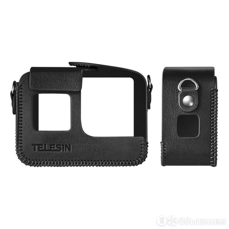 Telesin Кожаный чехол GoPro HERO7 Black, HERO6, HERO5, HERO 2018 с ремнем на шею по цене 1190₽ - Аксессуары для экшн-камер, фото 0