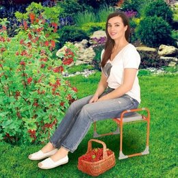 Скамейки - Скамейка Ника складная перевёртыш универсальный садовый для прополки, 0