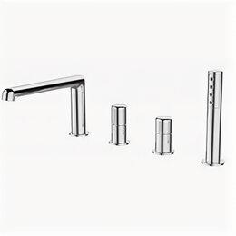 Краны для воды - Смеситель для ванны BelBagno Uno на борт хром UNO-BVD4-CRM, 0