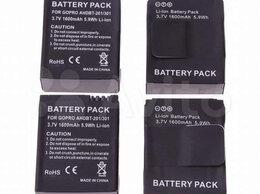 Аккумуляторы и зарядные устройства - Аккумуляторы на GoPro 3/3+ 1600mAh ahdbt-201/301, 0