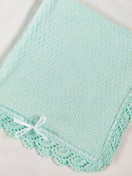 Покрывала, подушки, одеяла - Детский плед мятный. , 0