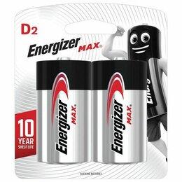 Батарейки - Батарейки ENERGIZER Max, D (LR20, 13А), алкалиновые, 1 шт., E301533400, 0