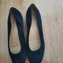 Туфли - Туфли, натуральная замша,синие, Италия, 0