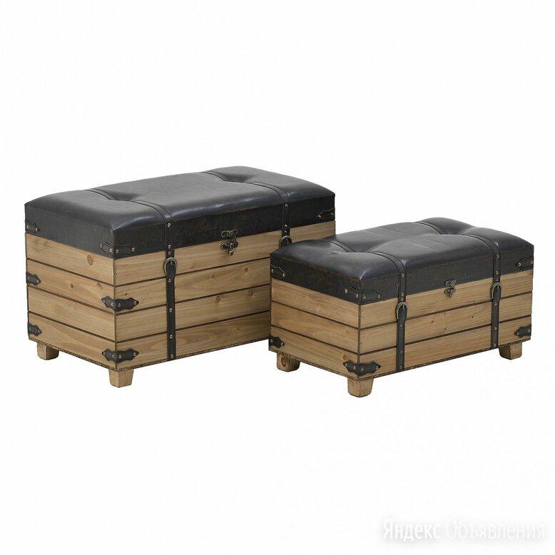 Банкетки с ящиками для хранения черно-бежевые, 2 штуки по цене 32720₽ - Банкетки и скамьи, фото 0
