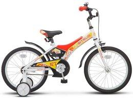 """Велосипеды - Велосипед 18"""" STELS Jet (10"""" Чёрный/оранжевый)…, 0"""