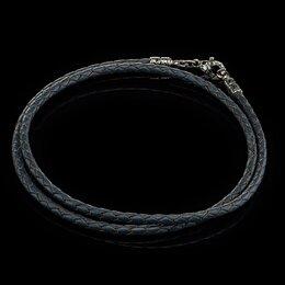 Украшения на тело - Кожаный плетеный  шнурок на шею для крестика или кулона., 0