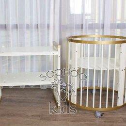 Кроватки - Кроватка-трансформер 9в1 золотая/молоко, 0