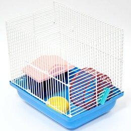 Клетки и домики  - Клетка для хомяков (дом,колесо,миска) 22,5*16,5*21,0 Зооник, арт.18316, 0