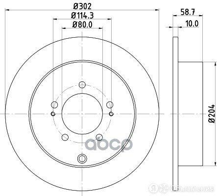 Диск Тормозной Задний Citroen, Mitsubishi, Peugeot C4 Aircross, C-Crosser (Ep... по цене 3000₽ - Тормозная система , фото 0