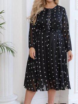 Платья - Платье в горошек шёлк шифон, 0