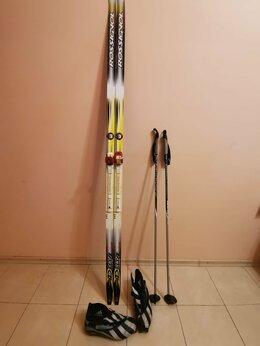 Беговые лыжи - Беговые лыжи комплект классика, 0