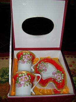 Кружки, блюдца и пары - Чайный подарочный набор. Новый. Из тонч. фарфора., 0