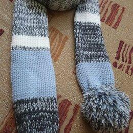 Шарфы, платки и воротники - Новый шарфик с помпонами , 0