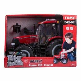 Мини-тракторы - Tomy Britanis Farm Трактор Case 210 Puma Свет звук сьемная кабина 42424, 0