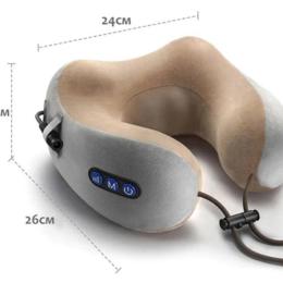Массажные матрасы и подушки - Подушка массажер Kneading U-shaped massage pillow, 0